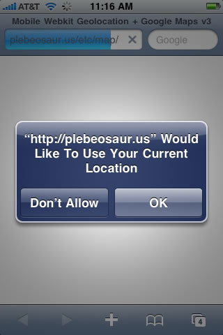iPhone location permission